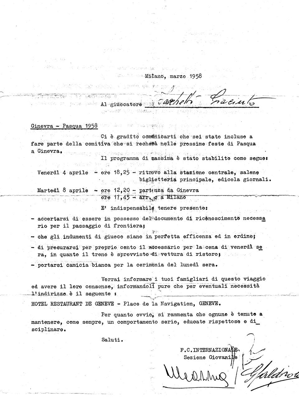 Giacinto Facchetti Official Website